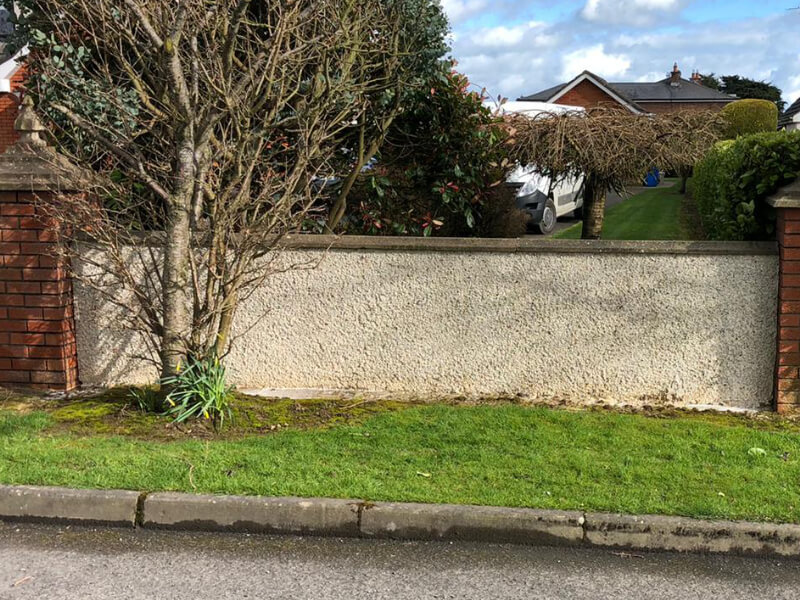 house wall cleaned by safe clean services