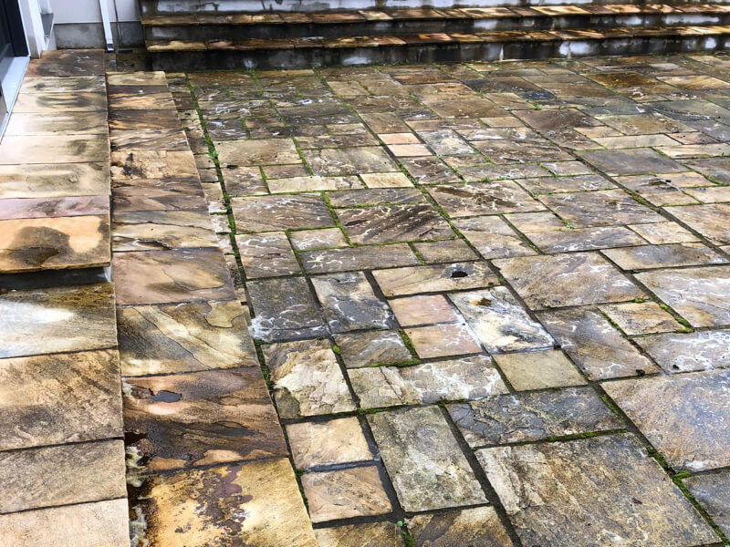house patio cleaned by safe clean services