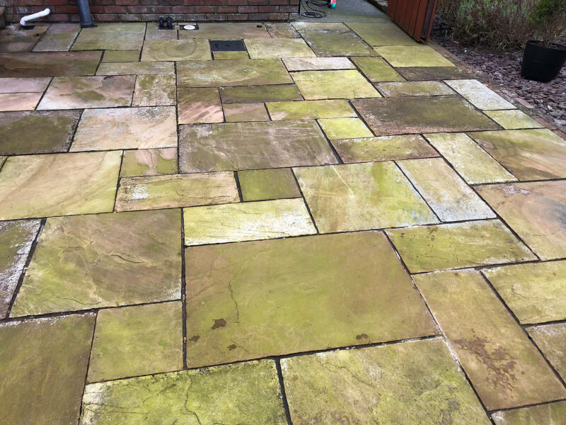 patio cleaned by safe clean services co louth and meath